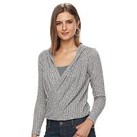 Women's Juicy Couture Faux-Wrap Hooded Top