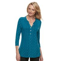 Women's Croft & Barrow® Pleated Popover Top