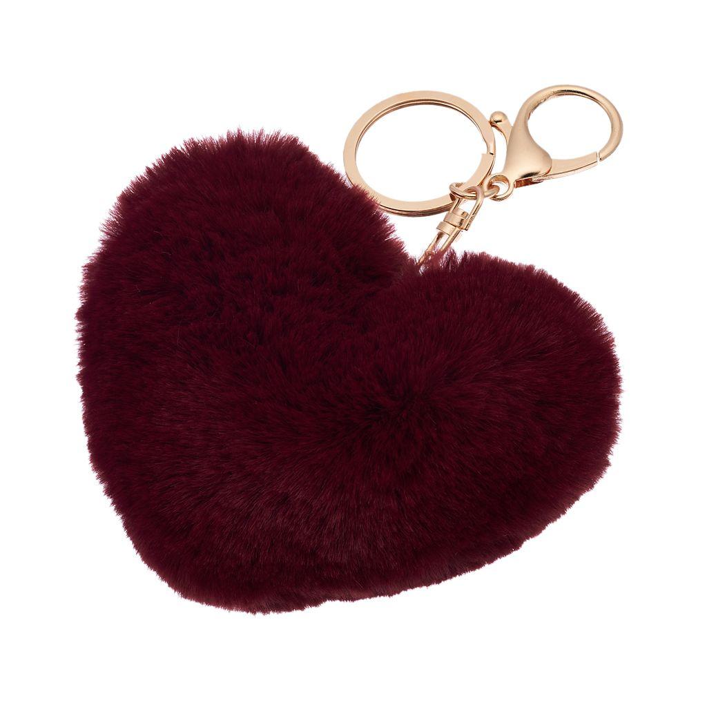 Mudd® Heart Puff Key Chain
