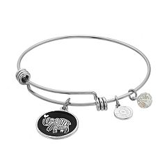 love this life 'Lucky' Elephant Bangle Bracelet