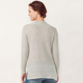 Women's LC Lauren Conrad Lace-Up Raglan Sweater