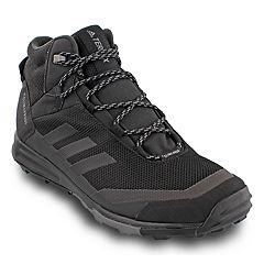 a3673b0cbd7f11 adidas Outdoor Terrex Tivid Mid CP Men's Waterproof Hiking Shoes. Black Gray