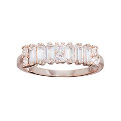 LC Lauren Conrad Runway Collection Cubic Zirconia Baguette Ring