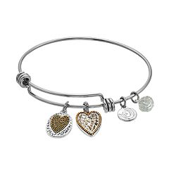 love this life 'Love the Life You Live' Heart Bangle Bracelet