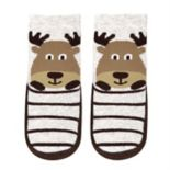 Baby Boy Jumping Beans® Moose Striped Slipper Socks