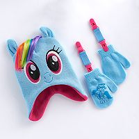 Toddler Girl My Little Pony Rainbow Dash Hat & Mittens Set
