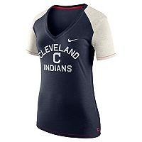 Women's Nike Cleveland Indians Fan Top Tee