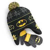 Toddler Boy DC Comics Batman Trapper Hat & Mittens Set