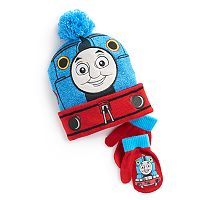 Toddler Boy Thomas the Train Pom Pom Hat & Mittens Set