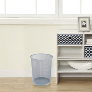 Neu Home 2-pack Titanium Finish Mesh Wastebasket