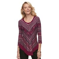 Women's Croft & Barrow® Printed Scoopneck Top