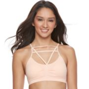 Juniors' It's Just A Kiss Cutout Seamless Bralette