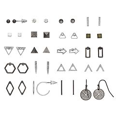 Mudd® Nickel Free Geometric Earring Set