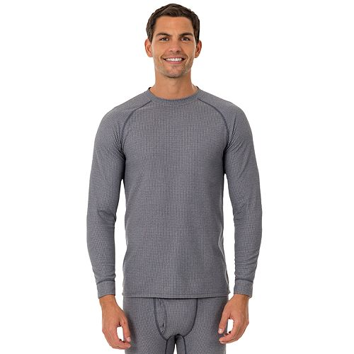 Men's Fruit of the Loom Signature Grid Tech Thermal Base Layer Tee