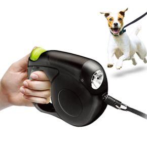 Protocol Retractable Dog Leash with Flashlight