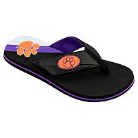 Men's College Edition Clemson Tigers Flip-Flops