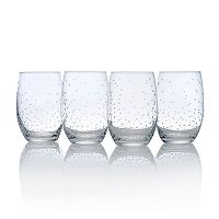 Mikasa Celebrations 4 pc Stemless Wine Glass Set