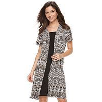 Women's Perceptions Mock Coat Dress