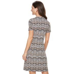 Women's Perceptions Mock Coat Dress