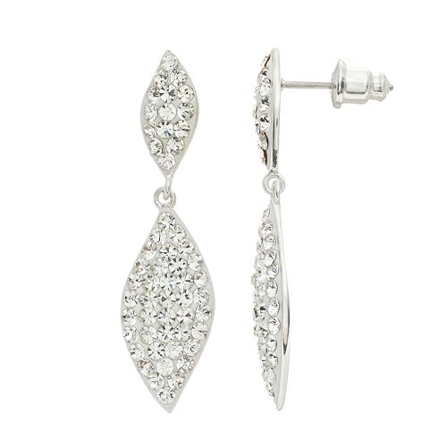Confetti Crystal Marquise Drop Earrings