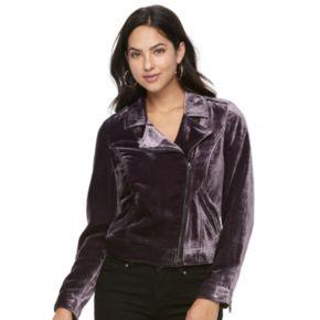 Women's Apt. 9® Velvet Moto Jacket