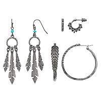 Mudd® Nickel Free Leaf Earring Set