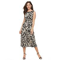 Women's Perceptions Ruched Midi Dress