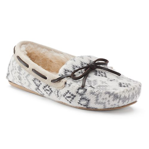 SONOMA Goods for Life™ Women's Knit Faux-Fur Lined Moccasin Slippers
