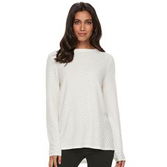 Women's ELLE™ Textured Embellished Sweater