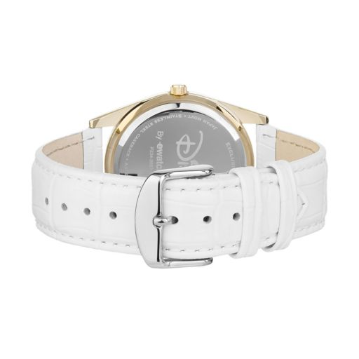 Disney's Beauty and the Beast Women's Crystal Leather Watch