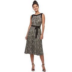 Women's Perceptions Printed Seam Shift Dress