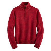 Boys 4-20 Chaps Quarter-Zip Marled Sweater