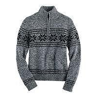 Boys 4-20 Chaps Quarter-Zip Fairisle Sweater