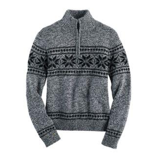 Boys 4-20 Chaps Quarter-Zip Fairisle Sweater