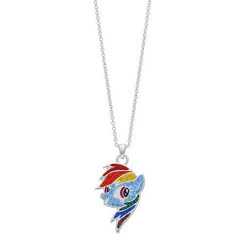 My Little Pony Rainbow Dash Crystal Pendant Necklace