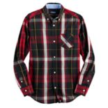 Boys 4-20 Chaps Plaid Button-Down Shirt