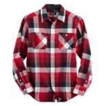 Boys 4-20 Chaps Plaid Flannel Button-Down Shirt