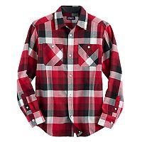 Boys 4-20 Chaps Plaid Flannel Button-Down Shirt