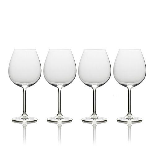 Mikasa Julie 4-pc. Bordeaux Wine Glass Set