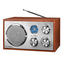 Victrola Wooden Desktop Bluetooth Stereo