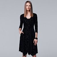 Women's Simply Vera Vera Wang Burnout Velvet Dress