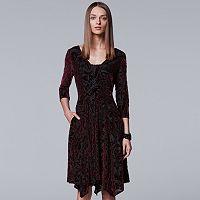 Women's Simply Vera Vera Wang Burnout Velvet Dress