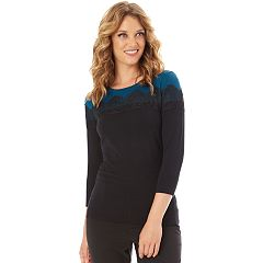 Women's Apt. 9® Lace Yoke Sweater