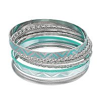 Mudd® Aqua Bangle Bracelet Set