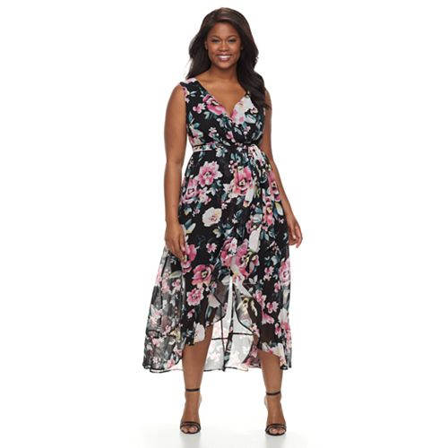 Plus Size Chaya Floral Chiffon Maxi Dress