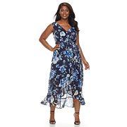 Plus Size Chaya Floral Chiffon Maxi Dress