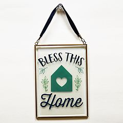 New View 'Bless This Home' Suncatcher Wall Decor