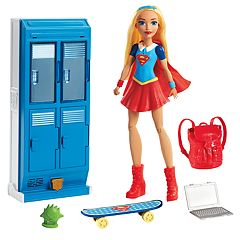 DC Comics Super Hero Girls Supergirl X-Ray Vision Action Doll & School Lockers Set