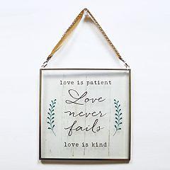 New View 'Love Is Patient' Suncatcher Wall Decor