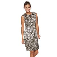 Women's Scarlett Scroll Cutout Sheath Dress
